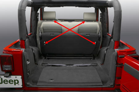 Real shooting Jeep free light, five seat positioning